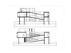 Villa Savoye: Final Axonometric + Plans + Sections
