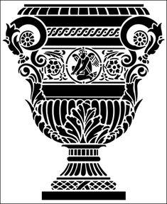 Urn special offers from The Stencil Library. Stencil Patterns, Stencil Art, Stencil Designs, Batman Silhouette, Circular Tattoo, Wooden Spoon Crafts, Stencils Online, Library Architecture, Large Stencils
