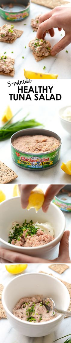 All you need is 4 ingredients and 5 minutes to make this Healthy Tuna Salad that's low carb and fat and packed with protein! All you need is 4 ingredients and 5 minutes to make this Healthy Tuna Salad that's low carb and fat and packed with protein! Healthy Tuna Salad, Healthy Snacks, Healthy Eating, Healthy Recipes, Easy Tuna Salad, Couscous Healthy, Protein Salad, Healthy Cooking, Tuna
