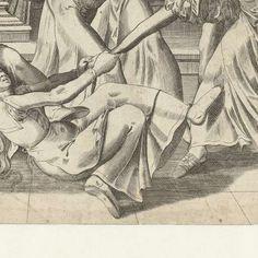 Strijd om de broek, Frans Hogenberg, 1540 - 1590 - Rijksmuseum