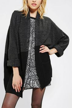 BDG Rolled-Sleeve Open Cardigan #urbanoutfitters #oversized