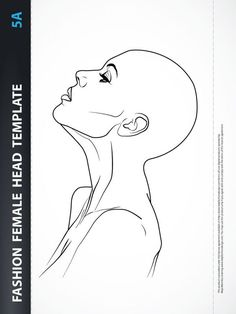 Fashion Female Head Template for Fashion Hairstyle, Jewelry or Make-up Design. Fashion Illustration Sketches, Fashion Design Sketches, Illustration Art, Arte Fashion, Fashion Design Template, Model Sketch, Mother Art, Drawing Templates, Jewelry Drawing