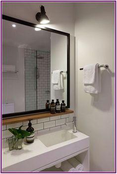 Popular Bathroom Mirror Design Ideas For Any Bathroom Model 09 Gorgeous Bathroom, Trendy Bathroom, Mirror Cabinets, Bathroom Model, Bathroom Mirror With Shelf, Elegant Bathroom, Bathroom Vanity Mirror, Bathroom Mirror Frame, Bathroom Design