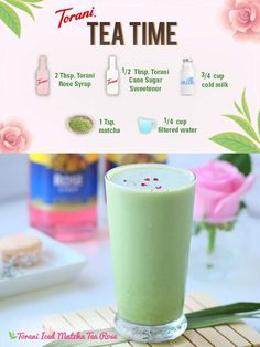 """Deeply alluring & something to admire. Say """"Hello"""" to the Torani Matcha Tea Rose."""