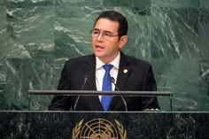 President Jimmy Morales of Guatemala addresses the general debate of the General Assembly's seventy-first session. UN Photo/Cia Pak