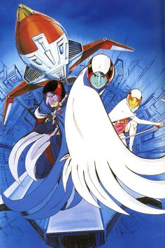 """Gatchaman - Battle of the Planets (or """"Strijd der Planeten"""" as I know it)"""
