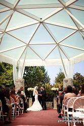 St Louis Wedding Locations - Butterfly House in Chesterfield. outdoor wedding ceremony. I perform weddings here often.