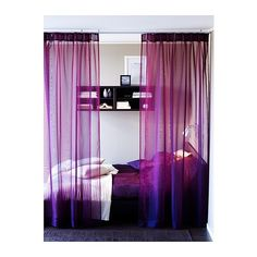Purple Sarita curtains