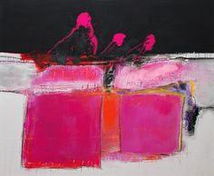 """N/T"" by Christa Hartmann, Abstract art, Fantasy, Painting Pink Abstract, Oil Painting Abstract, Modern Art, Contemporary Art, Art Rose, Art Et Illustration, Pink Art, Abstract Expressionism, Art Inspo"