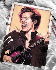 One Direction Fan Art, One Direction Drawings, Desenho Harry Styles, Harry Styles Drawing, Art Prompts, Harry Styles Wallpaper, Harry Styles Pictures, Mr Style, Dibujos Cute