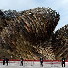 The Spanish pavilion by Miralles Tagliabue (EMBT) for the Shanghai Expo 2010