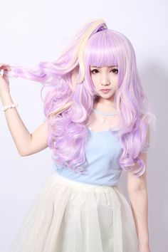 New harajuku style scroll wig cosplay wig Lolita Dream gradual three-piece Large Wigs / wig accessories women