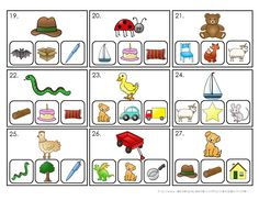 Rhyming Word Task Cards and Worksheet Set. Great to use as clip cards at Centers! Color AND black and white.