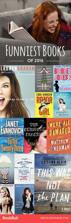 Hilarious books to make you laugh. A great selection of books to add to your 2017 reading list!