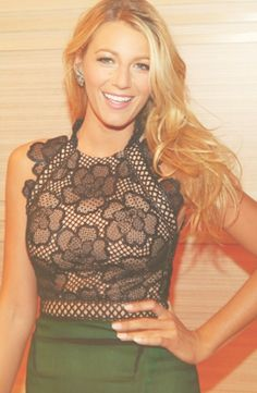 Blake Lively <--love her and that top. YES!!