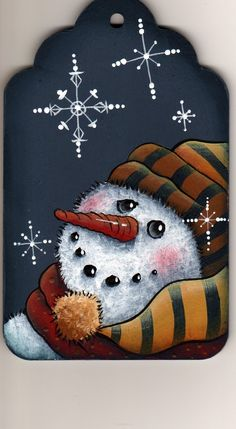 snowman patterns, painted snowmen, white christmas, snowman paintings, gift tags