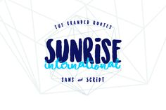 Sunrise International (Typeface) by The Branded Quotes on @creativemarket