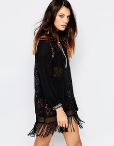 French Connection Dumas Lace Tunic Dress