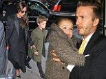 New York Fashion Week 2014: David Beckham takes family to lunch to celebrate Victorias NYFW success - TV&Showbiz | Mail Online love them! Love Balthazars too!