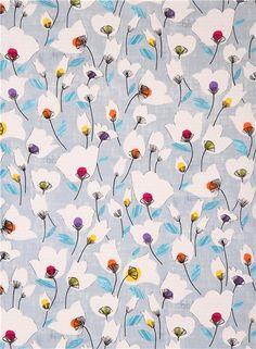 pigeon blue Field Study flower fabric Timeless Treasures | modes4u