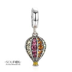 Soufeel Hot Air Balloon Dangle Charm 925 Sterling Silver Shop->http://www.soufeel.com/hot-air-balloon-dangle-charm-925-sterling-silver.html