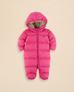 Footed Down Snowsuit Layette Outerwear Ralphlauren Com