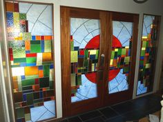 Custom Stained and Leaded Glass entry  www.adammsgallery.com