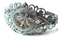 Steampunk Bracelet Filigree Steampunk Cuff by pennyfarthingdesigns, £31.00