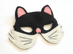 Cat Kids Felt Animal Mask Children Halloween Costume Mask Kitty Carnival Mask, Dress up Accessory, Boys, Girls, Toddlers Pretend Play Toy