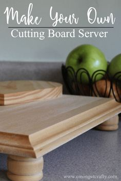 It is so easy to throw together this DIY cutting board server and have a custom piece for your next party!