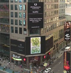 Celebrating National Student Day in Times Square