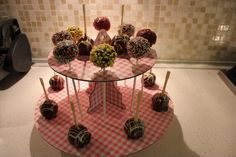 Colorful cake pops chocolate