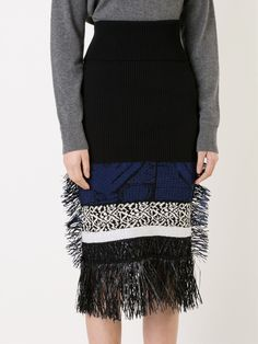 Toga Pulla fringed knit skirt