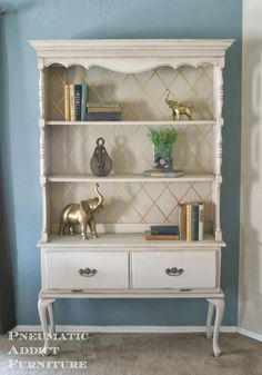 Pneumatic Addict #Furniture: What To Do With an #OldDresserHutch. #diyprojects #diyideas #diyinspiration #diycrafts #diytutorial