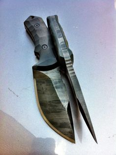 Jericho blade works knife. A work of beauty. If only it weren't a chisel grind.