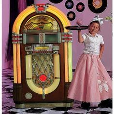 jukebox prop, 1950s party