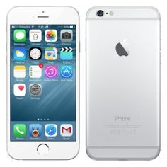 Apple iPhone 6 Plus Silver Factory Unlocked Iphone 6 16gb, Iphone Phone, Iphone 6 Silver, Free Iphone 6, Whatsapp Text, Video Notes, T Mobile Phones, Note Reminder, Apple Brand