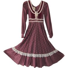 Vintage 1974 Jessica McClintock Dress