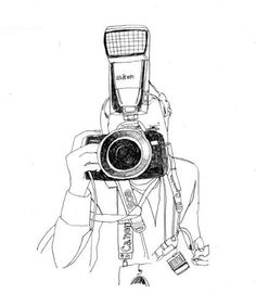 Photographer. Cheese Art, Camera Illustration, Camera Drawing, Outline Art, Doodle Inspiration, Love Photos, Creative Art, Photo Art, Art Drawings