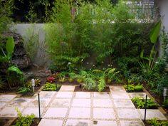 Garden Landscaping, Pond, Garden Design, Swimming Pools, Sidewalk, Patio, Landscape, Outdoor Decor