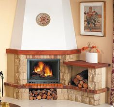 Risultati immagini per chimeneas esquineras rusticas Living Room Decor Fireplace, Modern Fireplace, Firewood, Foyer, Wood Projects, House Plans, House Design, Home Decor, Google