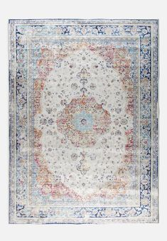 Drawing inspiration from Persian opulence and elegance, this rug will warm your space up while bringing a timeless style too. An intricate design in the centre is coolly framed by detailed patterns. Vintage Colors, Vintage Rugs, Rugs And Mats, Space Up, Contemporary Rugs, Rugs Online, Colorful Rugs, Timeless Fashion, Persian