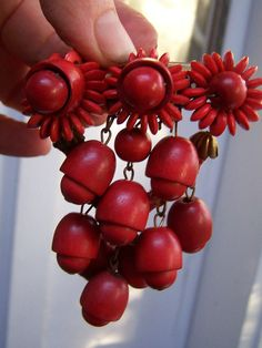Miriam Haskell Frank Hess Brooch Wooden Beads by Plantdreaming