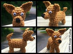 This pattern is for a tiny stuffed Chihuahua, small enough to fit in the palm of your hand.
