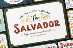 The Salvador - Font Combination by AF Studio on @creativemarket
