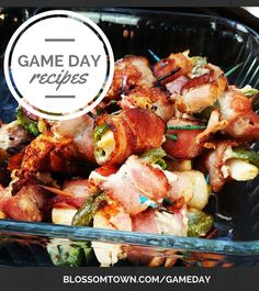 It's game day!! Who's enjoying some football with game day food and appetizers?! Need more game day recipes? Check out our favs: http://blossomtown.com/gameday/  #footballfood #gameday