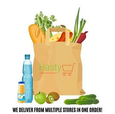 HastyCarts online grocery store allows you to complete your grocery shopping from the safety, convenience, and comfort of your own home. With HastyCart you can shop from multiple stores in one order, and get your order delivered on the same day. HastyCart not only allows you to feel good but do good through your grocery shopping, since 10% of every order goes towards grocery donations for a family in need. Grocery shopping is better with HastyCart! Background Design Vector, Retro Background, Geometric Background, Save The Date Posters, Free Vector Images, Vector Free, Cartoon Bag, Globe Icon, Bag Illustration