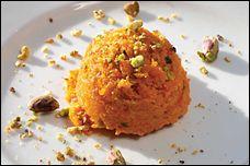 carrot-saffron pudding