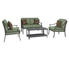 patio furniture sets walmart. Foster 4-Piece Patio Conversation Set, Seats 4 Furniture Sets Walmart