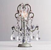 Mini Manor Court Crystal Lamp Aged Pewter - bathroom vanity